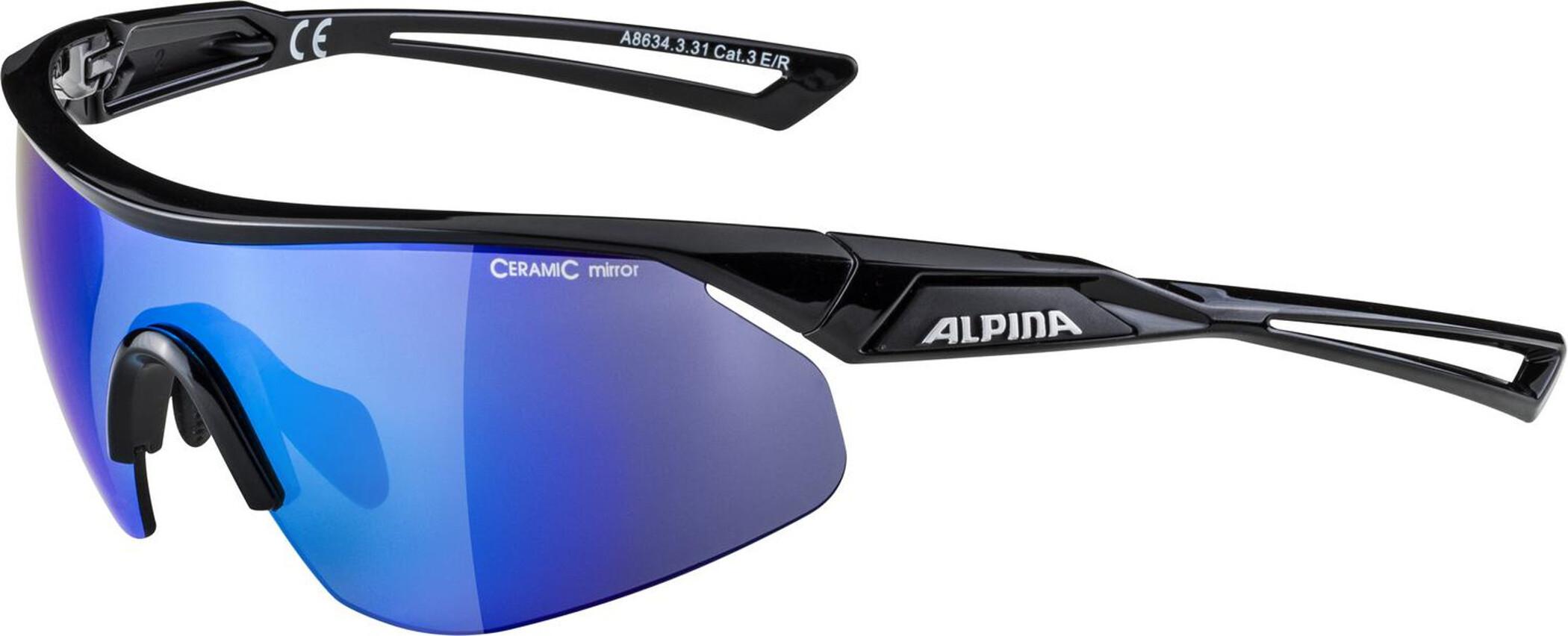 Alpina Nylos Shield Cykelbrille Sort   Glasses