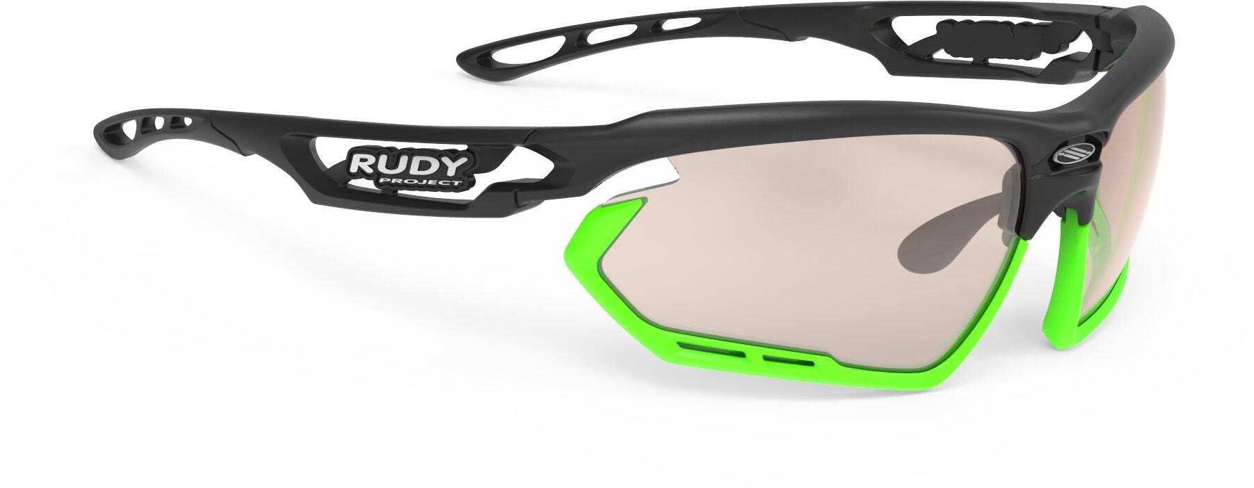 Rudy Project Fotonyk Cykelbriller, black matte - impactx photochromic 2 laser brown | Briller
