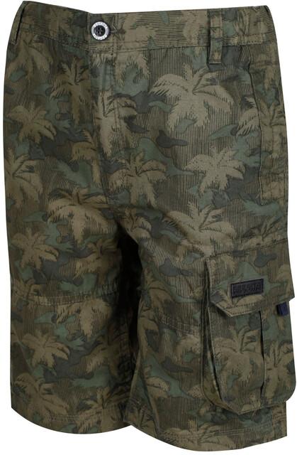 Regatta Kids Shorewalk Coolweave Cotton Multi Pocket Shorts 14 Years Grape Leaf Camo