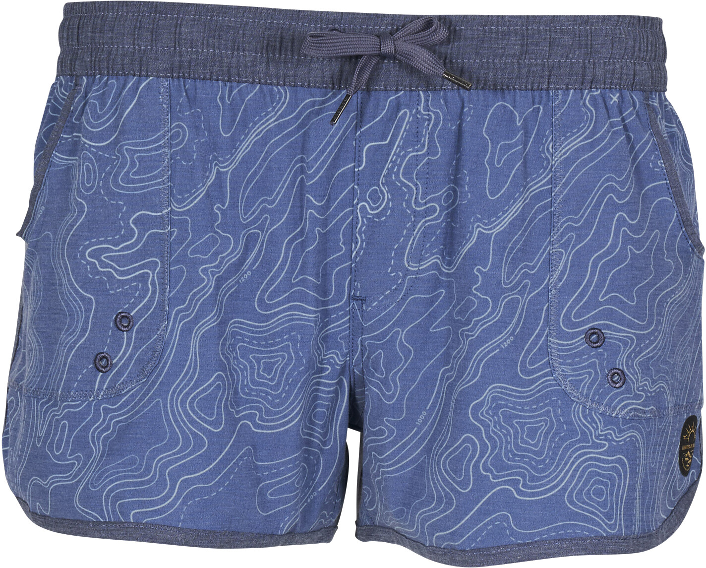 United By Blue Topography Bukser korte Damer, blue (2019) | swim_clothes