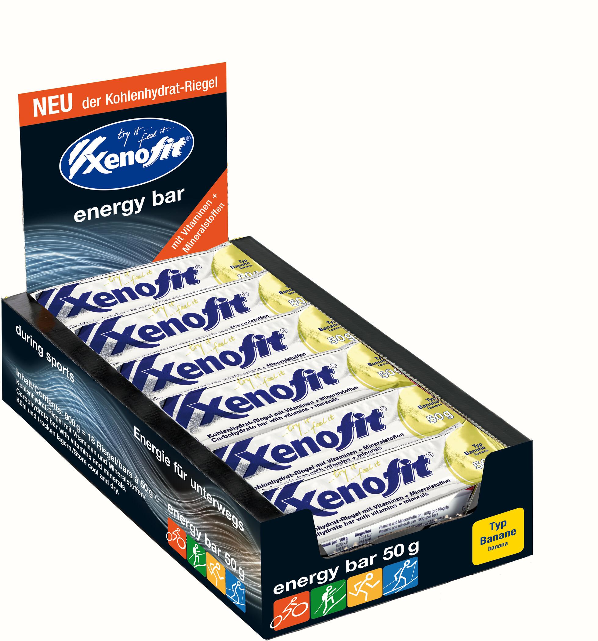 Xenofit Carbohydrate Bar Box 18x50g, Banana (2019) | Energy bar