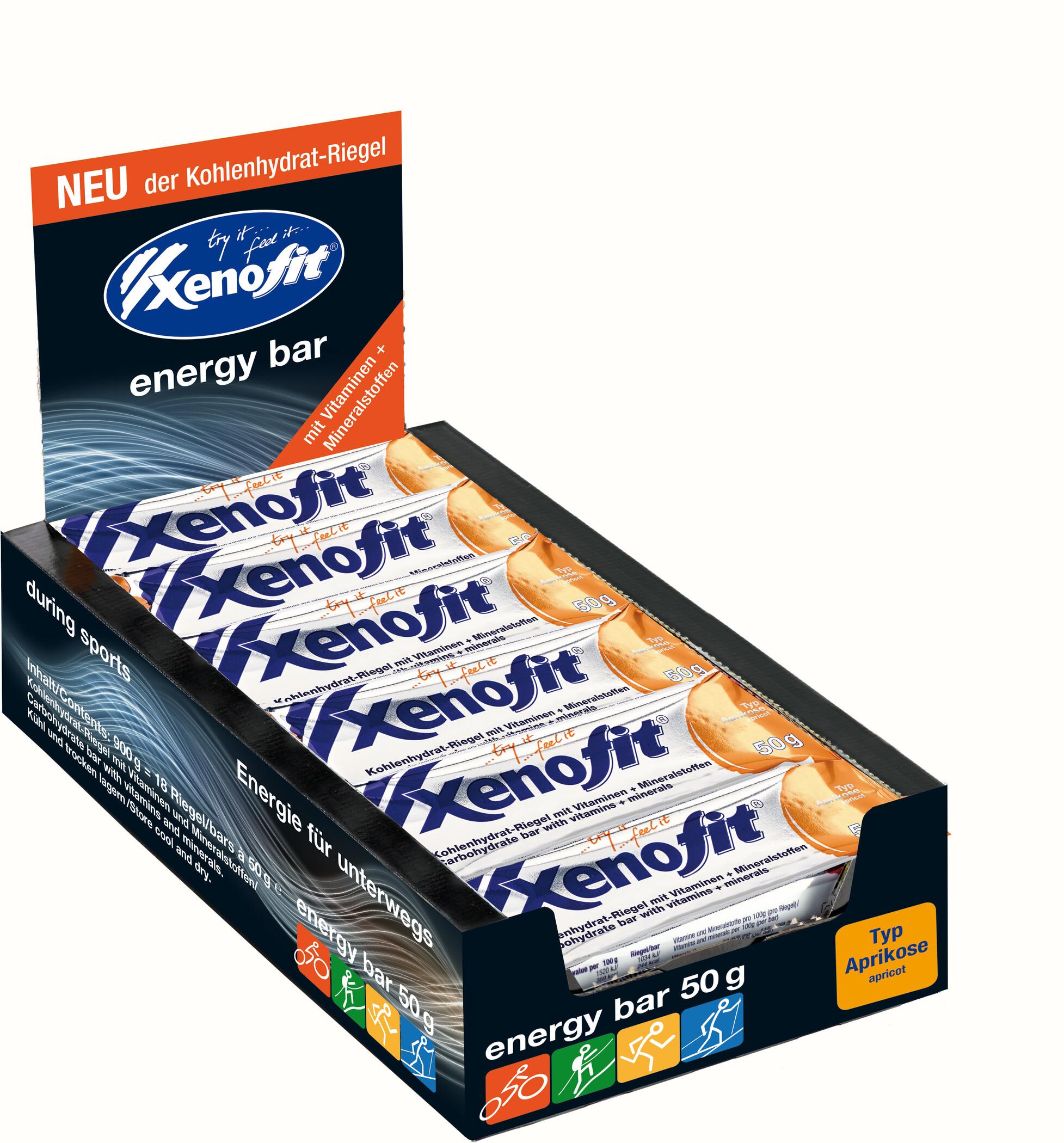 Xenofit Carbohydrate Bar Box 18x50g, Apricot (2019) | Energy bar