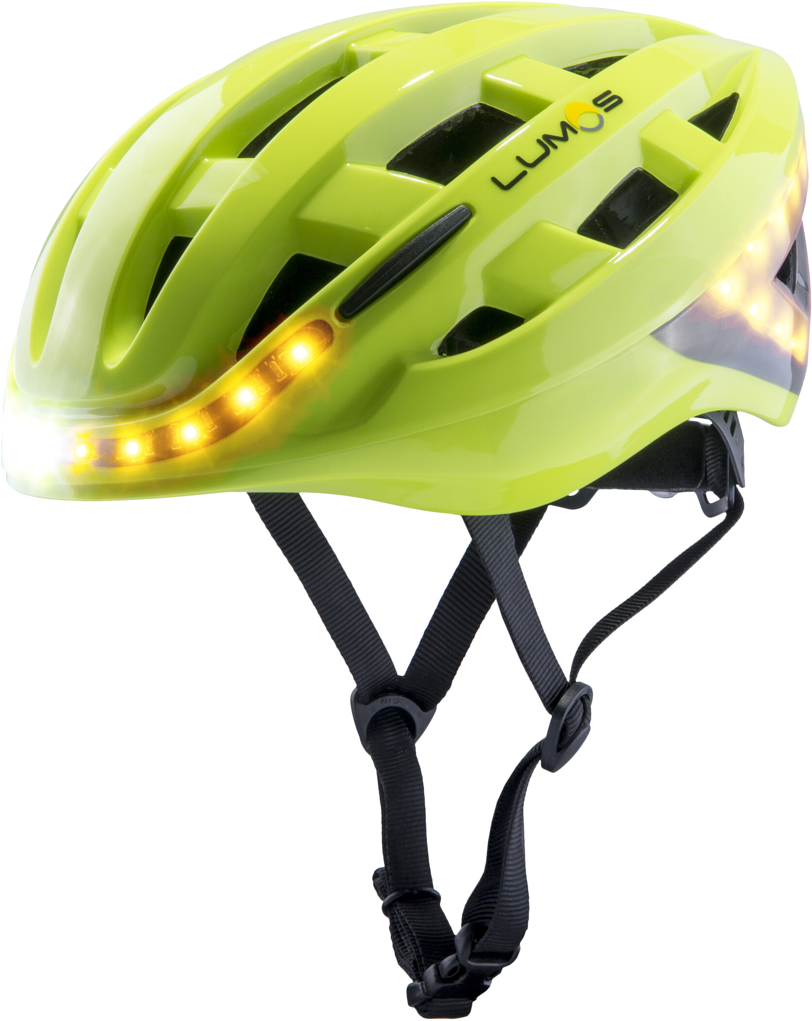 Lumos Kickstart Cykelhjelm, electric lime (2020) | Helmets