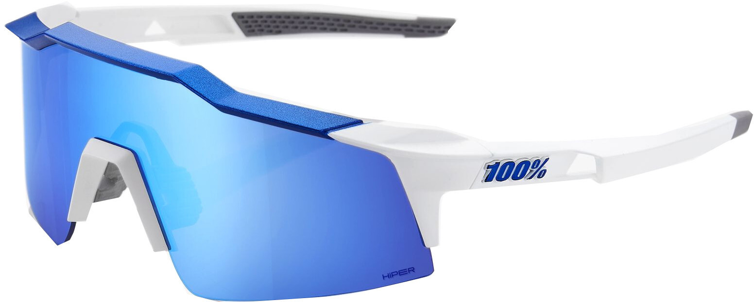 100% Speedcraft HD Multilayer Mirror Cykelbriller small, matte white/blue (2019) | Glasses