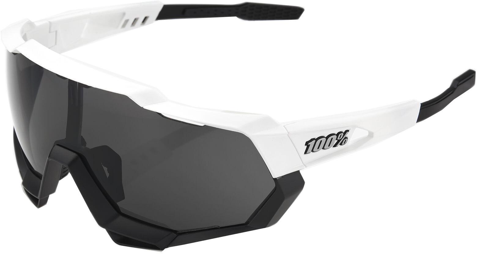 100% Speedtrap Smoke Cykelbriller, matte white/black (2019) | Glasses