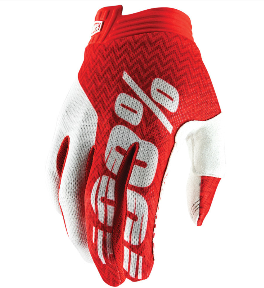 100% iTrack Cykelhandsker, red/white (2019) | Gloves