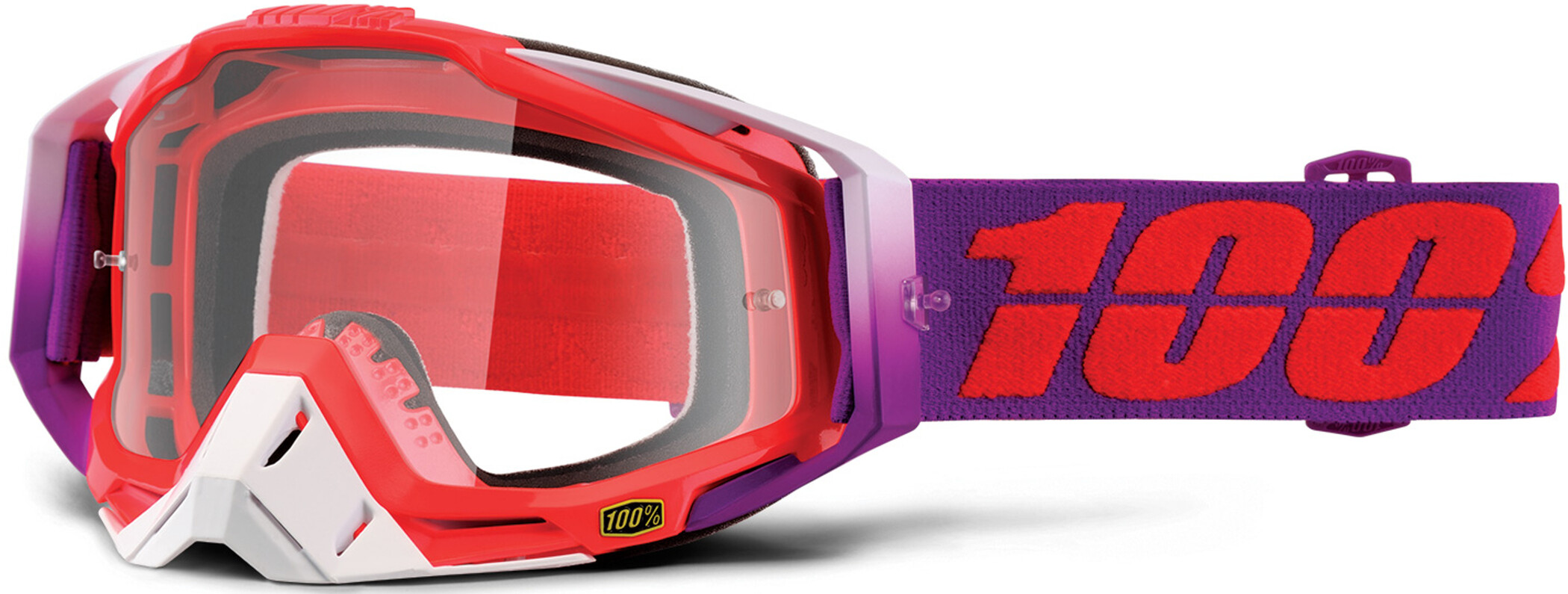 100% Racecraft Anti Fog Clear Goggles, watermelon (2019) | Glasses