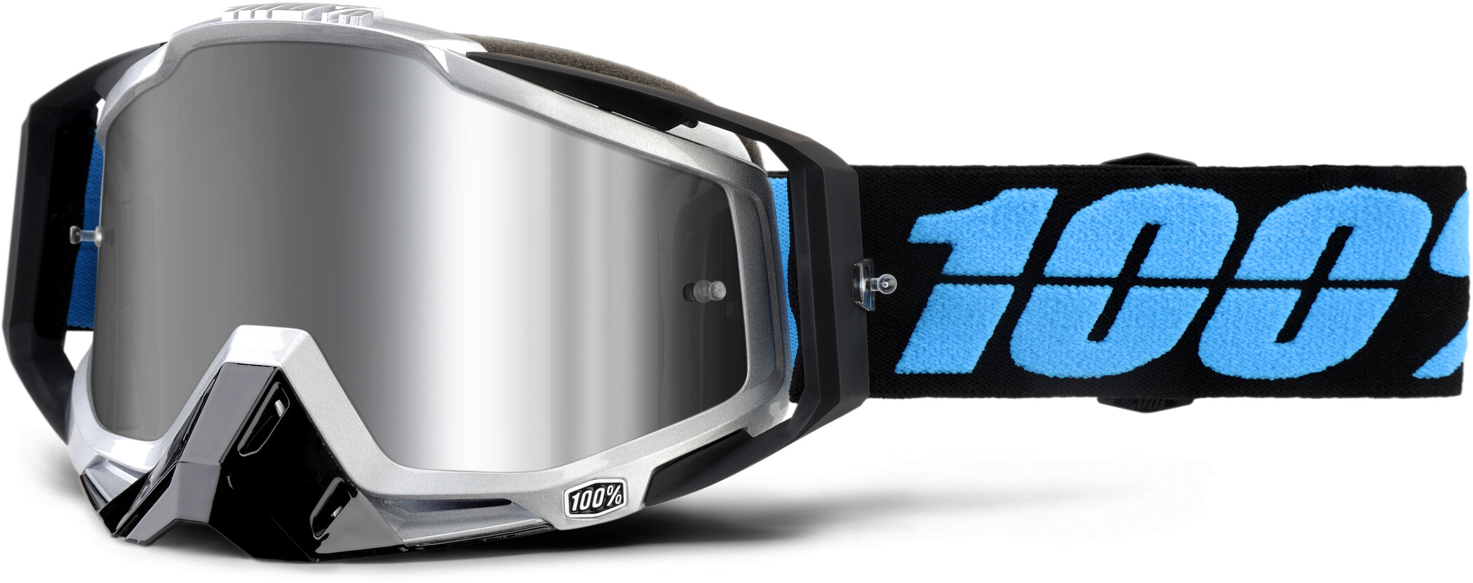 100% Racecraft Plus Injected Mirror Goggles, daffed (2019) | Glasses