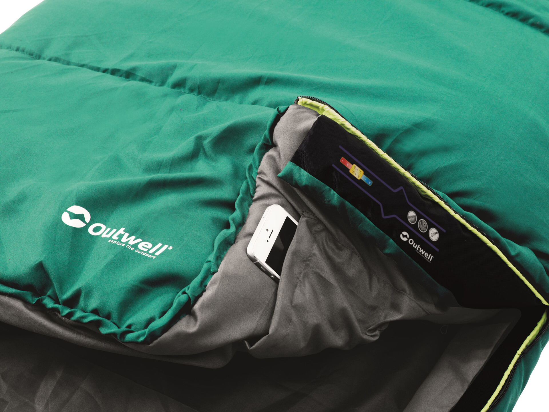 Outwell Campion saison 2 rectangulaire sac de couchage Vert