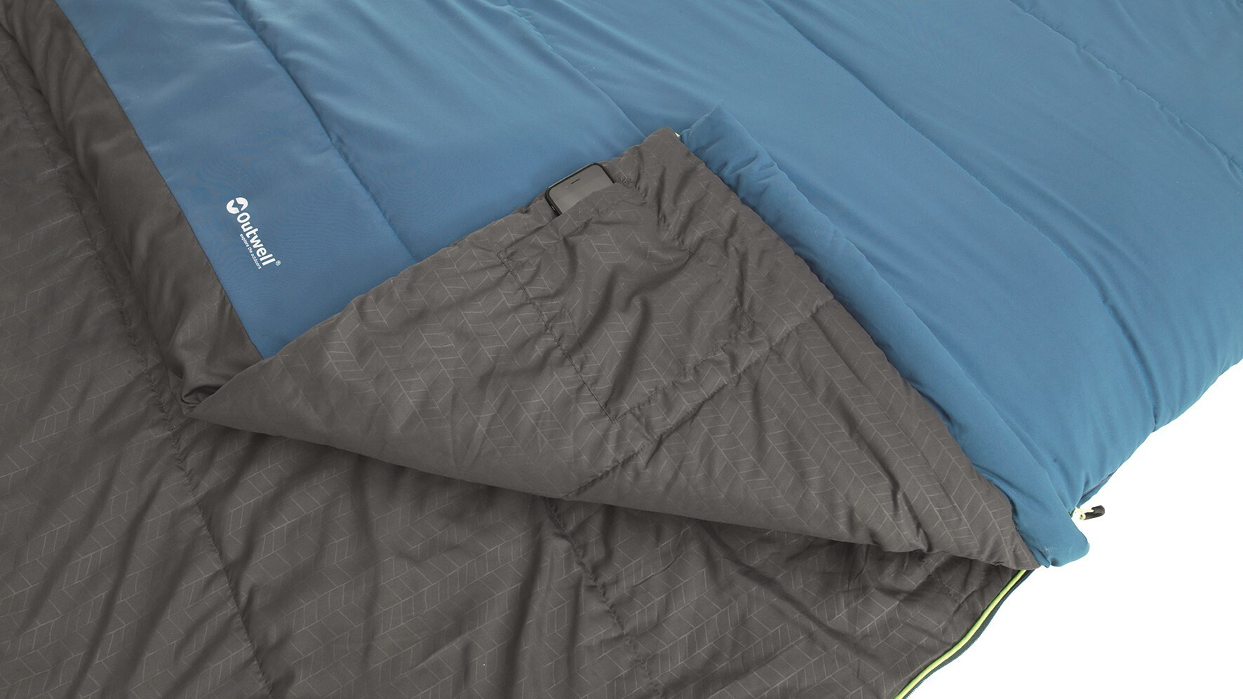 Outwell Campion Lux Bleu Sac De CouchagedoubleSAISON 3Luxe Camping