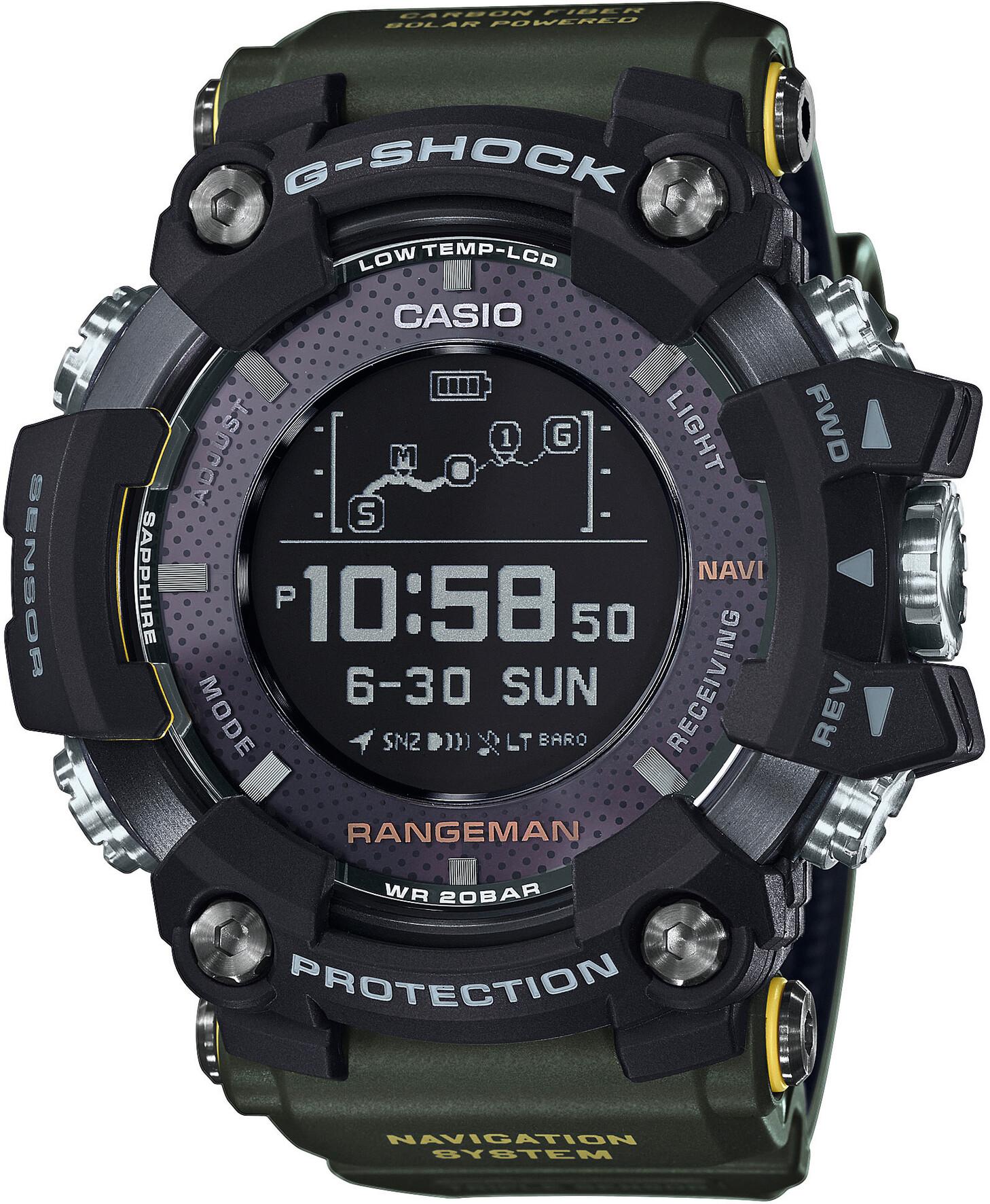 CASIO G-SHOCK GPR-B1000-1BER Ur Herrer, black/black/black (2019)   Sports watches