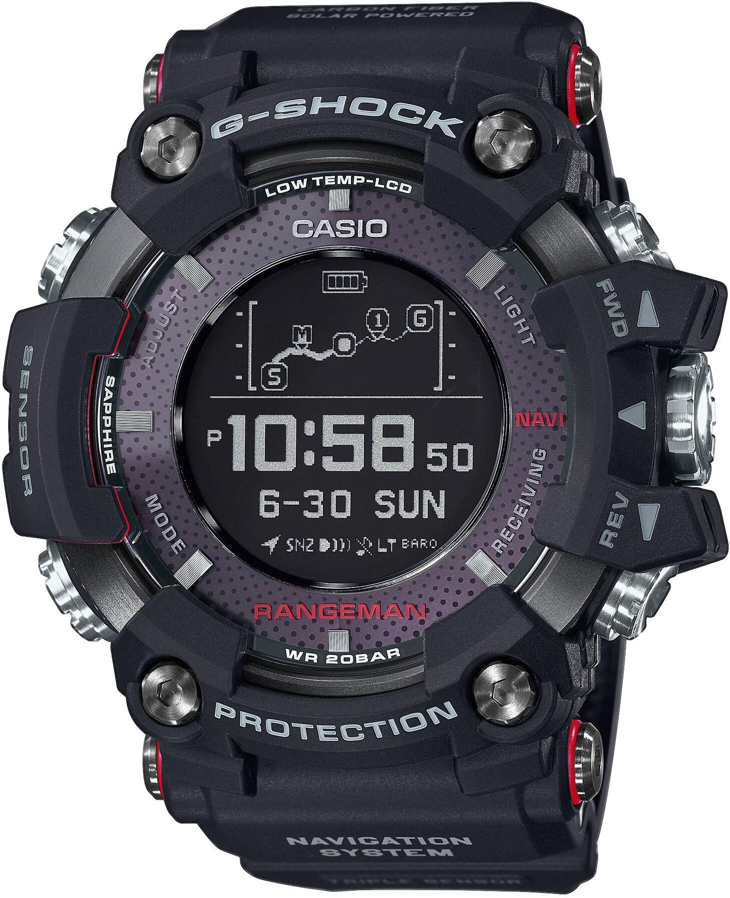 CASIO G-SHOCK GPR-B1000-1ER Ur Herrer, black/black/black (2019)   Sports watches