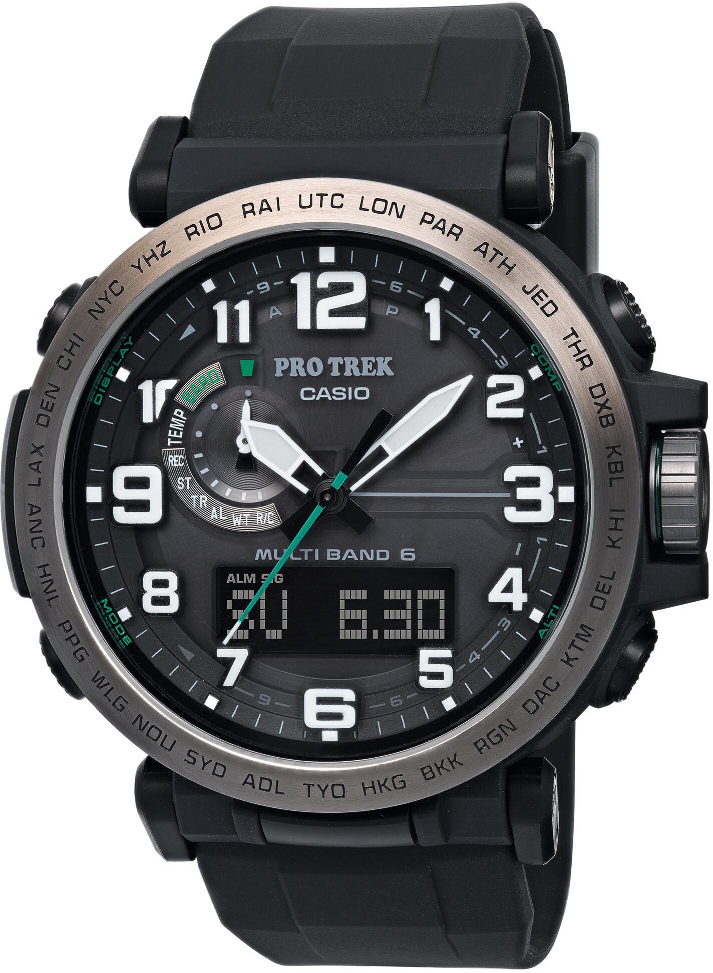 CASIO PRO TREK PRW-6600Y-1ER Watch Men, black/silver /black   Sports watches
