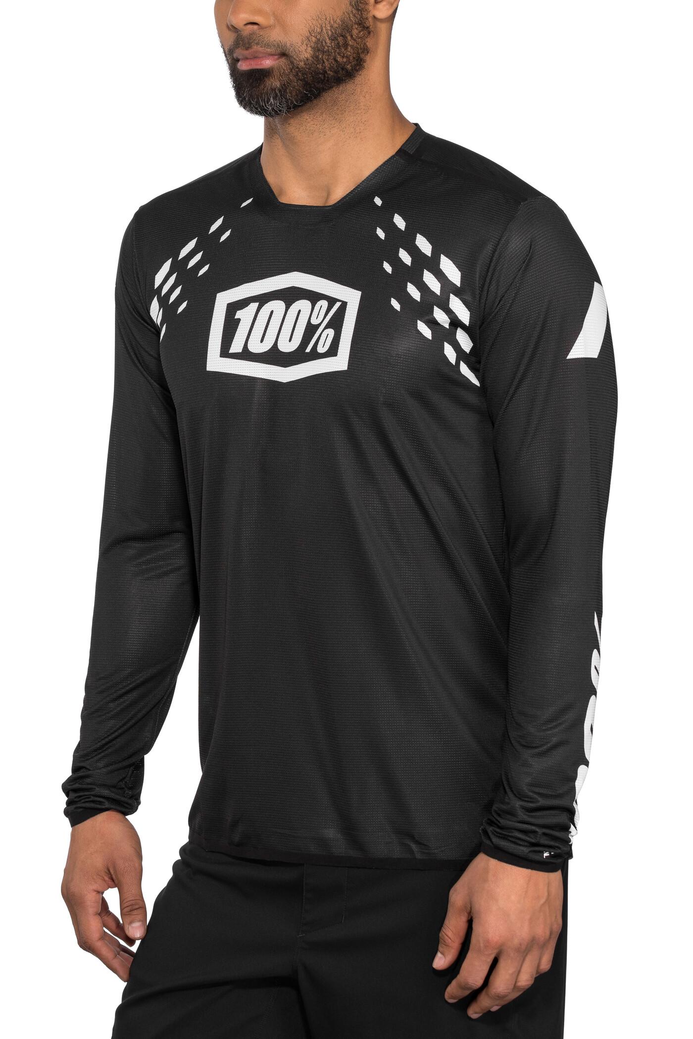 100% R-Core-X DH Langærmet cykeltrøje Herrer, black | Trøjer