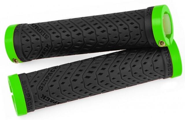 Sixpack K-Trix Lock-On Fahrrad Schraubgriffe neon gelb//weiß