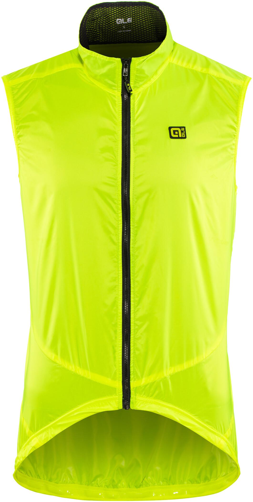 Alé Cycling Guscio Light Pack Vest Herrer, flou yellow | Vests