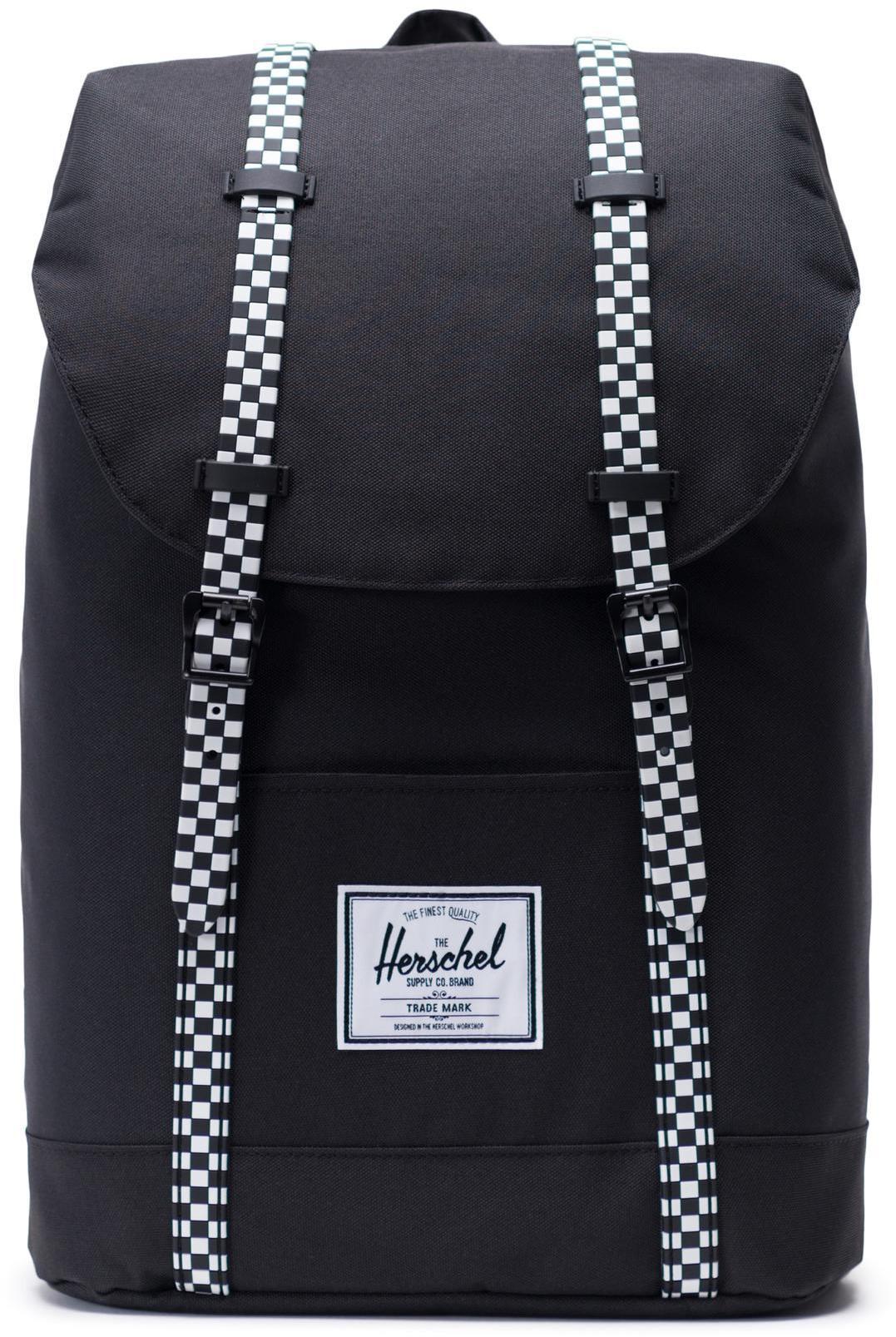 Herschel Retreat Backpack 19,5l, black/checkerboard (2019)   Rygsæk og rejsetasker