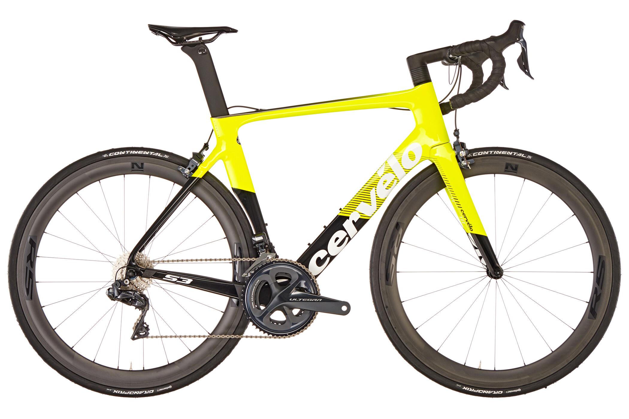 Cervelo S3 Ultegra Di2 8050 Racercykel gul/sort (2019) | Road bikes