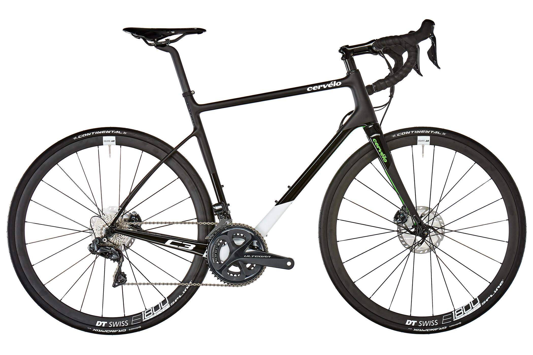 Cervelo C3 Disc Ultegra Di2 8070 Racercykel hvid/sort (2019) | Road bikes