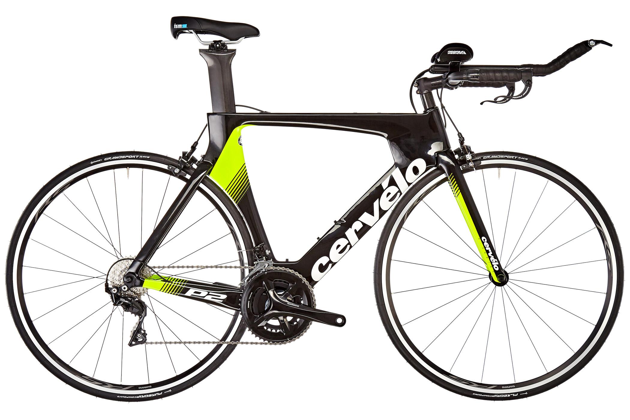 Cervelo P2 105 7000, black/white/yellow | Tri/time trial