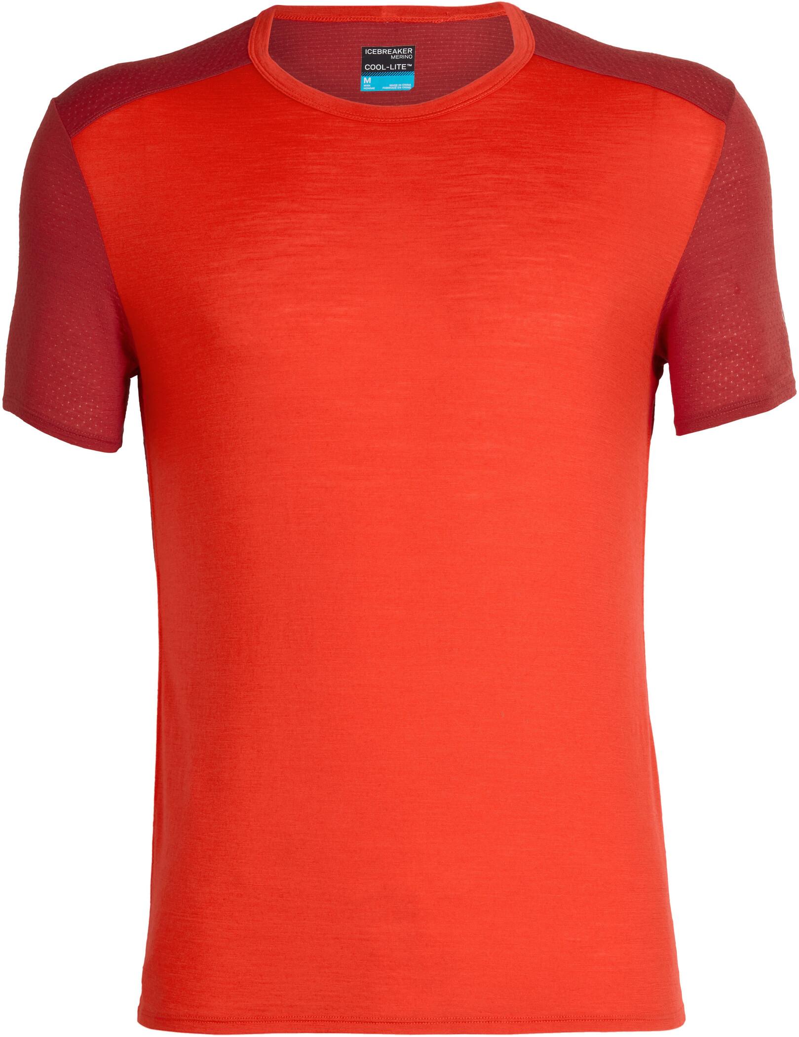 Icebreaker Amplify T-shirt Herrer, chili red/sienna (2019) | Jerseys