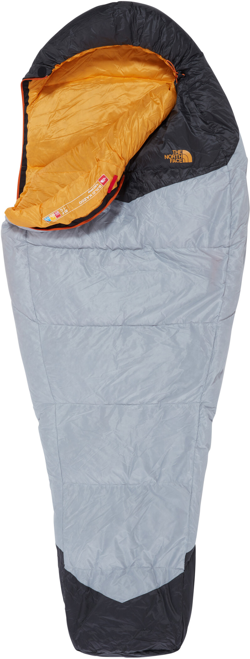 The North Face Gold Kazoo Sleeping Bag Long, high rise grey/radiant yellow (2019) | Misc. Transportation and Storage
