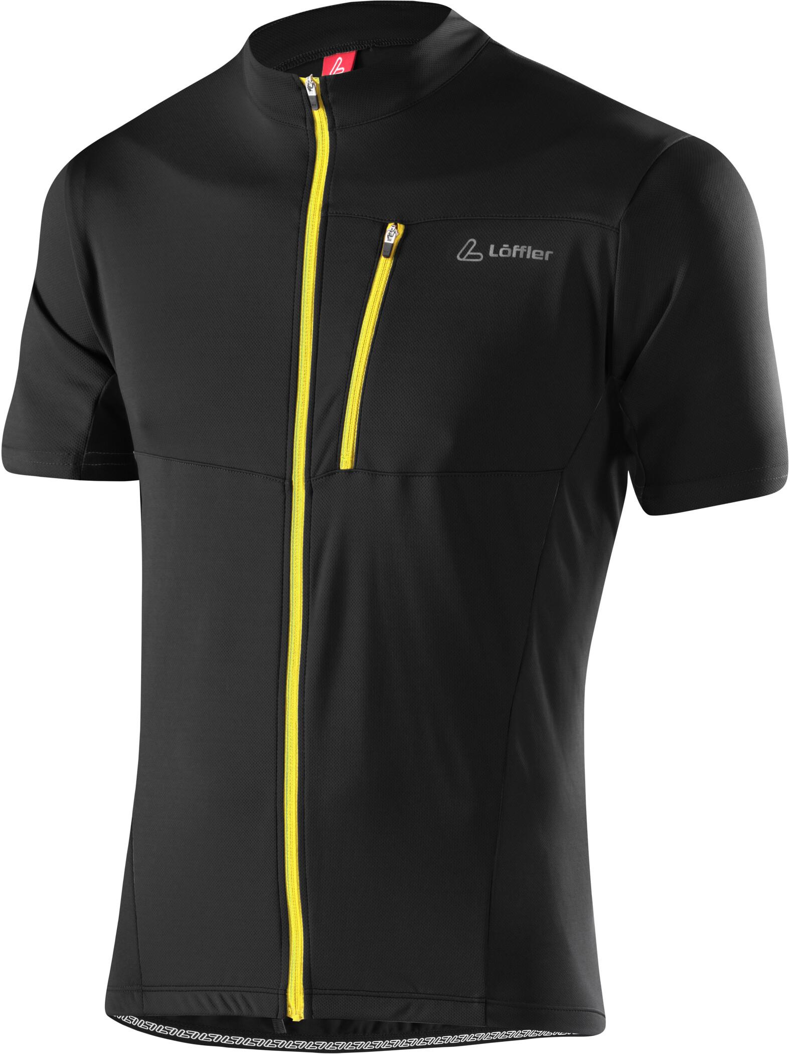 Löffler Rocky Bike Jersey Full-Zip Men, black/lemon (2019)   Jerseys