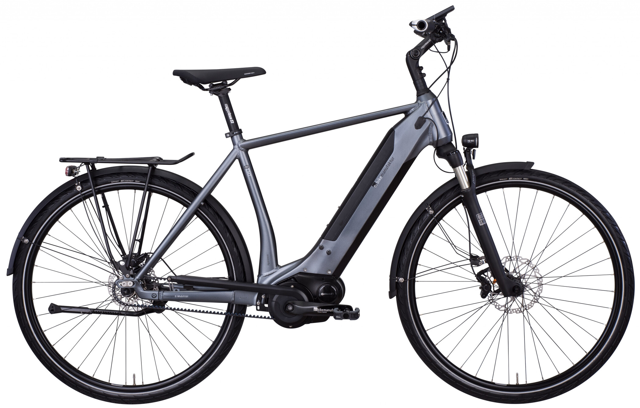 e-bike manufaktur 8CHT Diamant 48er Revolution Disc Gates, dark silver matte (2019) | City