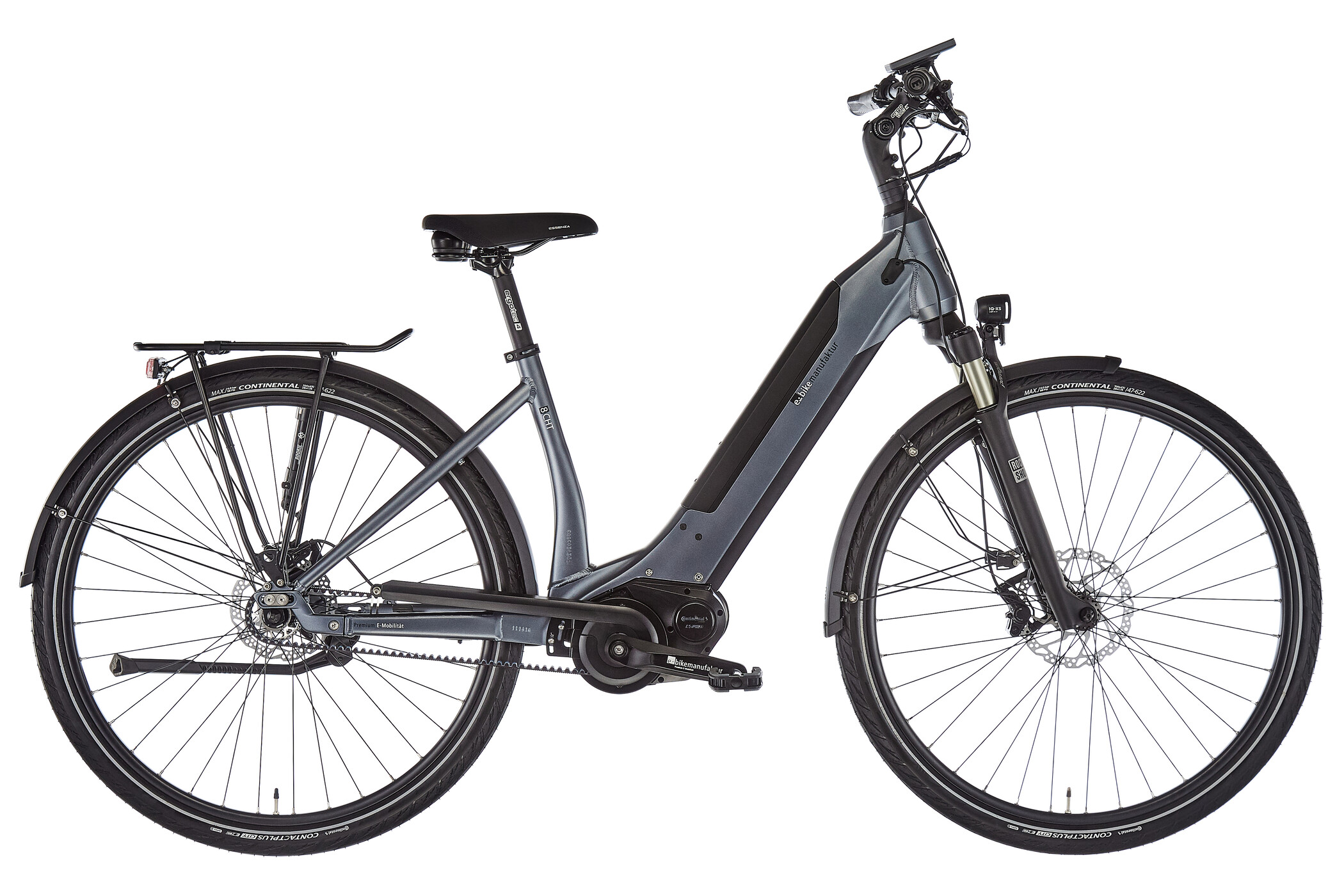 e-bike manufaktur 8CHT Wave 48er Revolution Disc Gates, dark silver matte (2019) | City