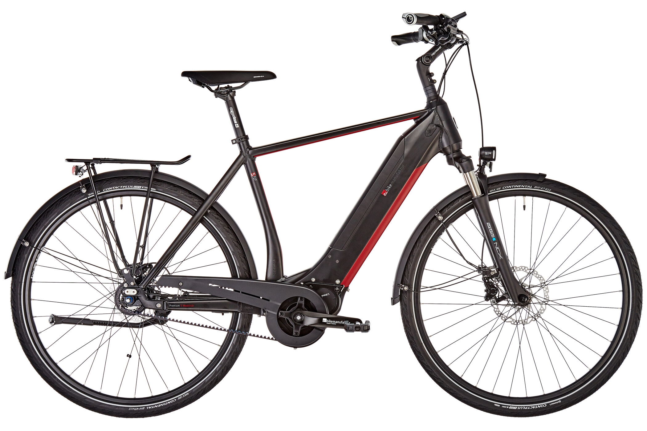 e-bike manufaktur 5NF Diamant Alfine Disc Gates, black matte (2019) | City