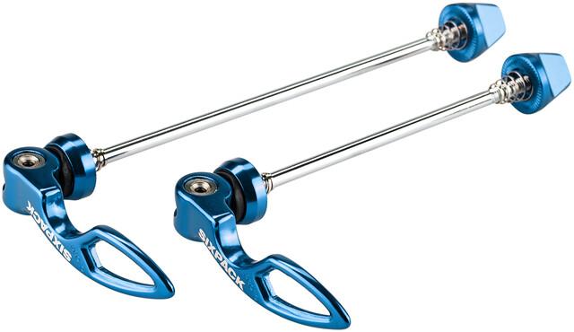 SODIAL Set Schnellspanner Vorne Hinten Nabe Blau F/ür MTB Bike