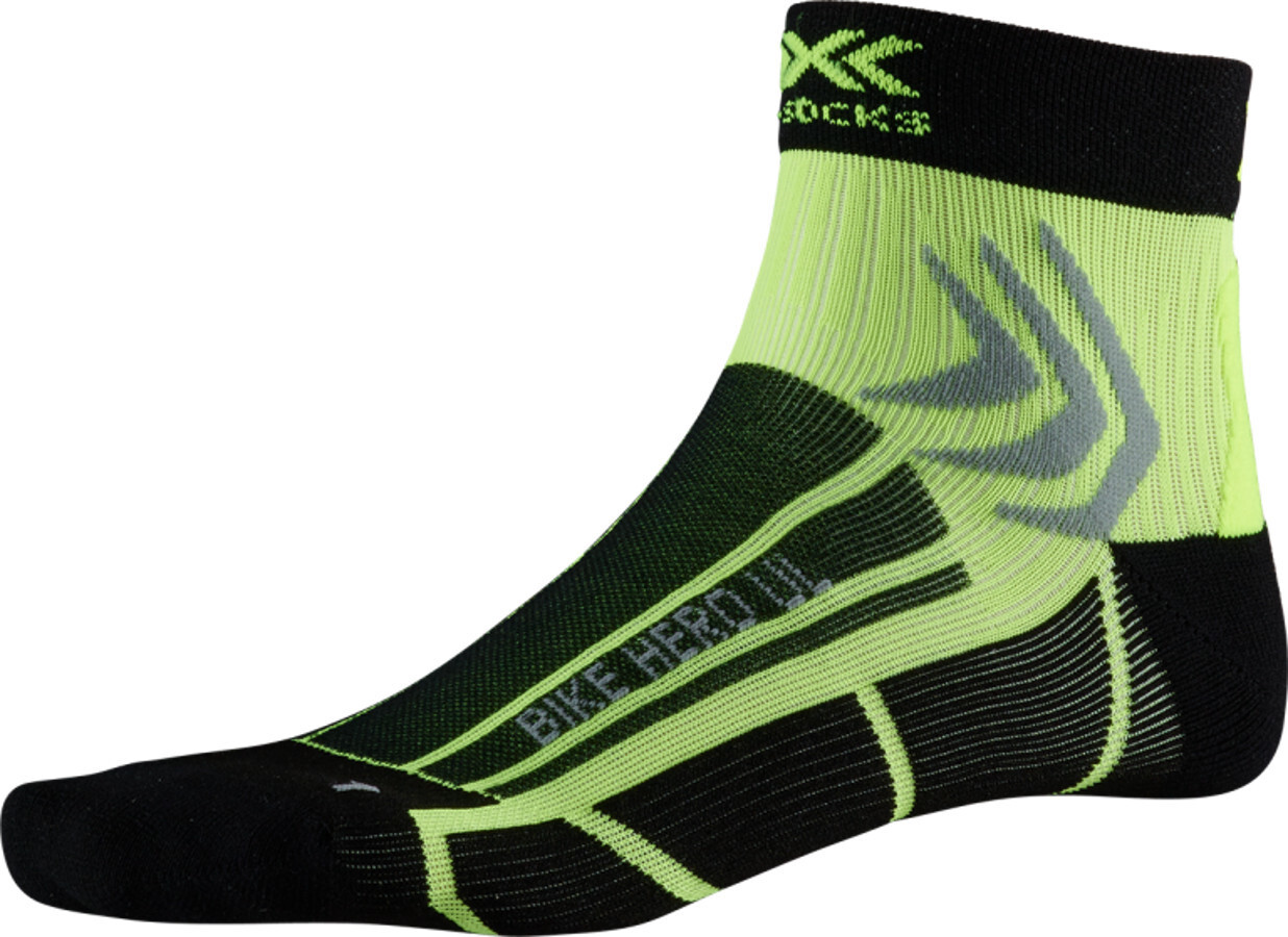 X-Socks Bike Hero UL Strømper, opal black/phyton yellow | Strømper