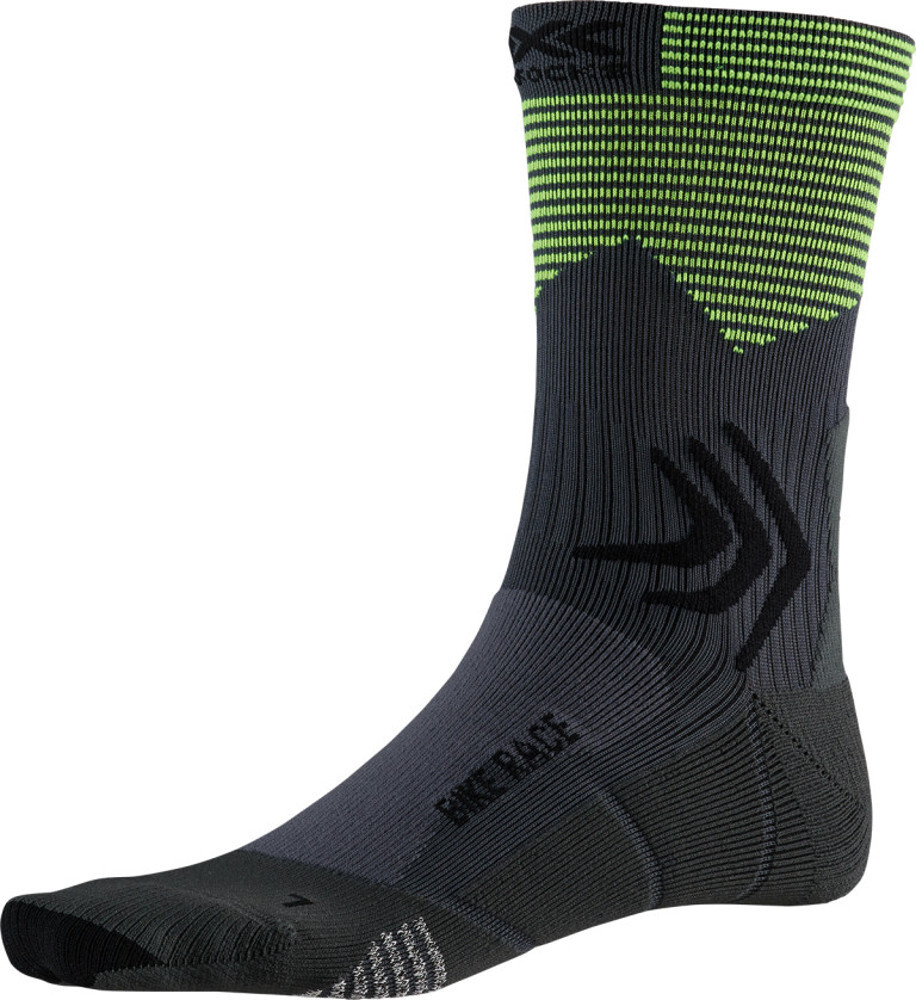 X-Socks Bike Race Strømper, charcoal /phyton yellow | Strømper