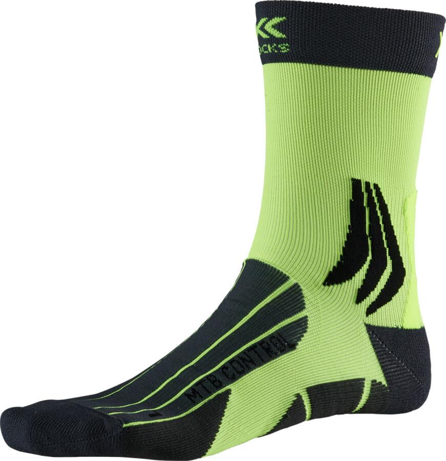 X-Socks MTB Control Strømper, charcoal /phyton yellow (2019) | Socks