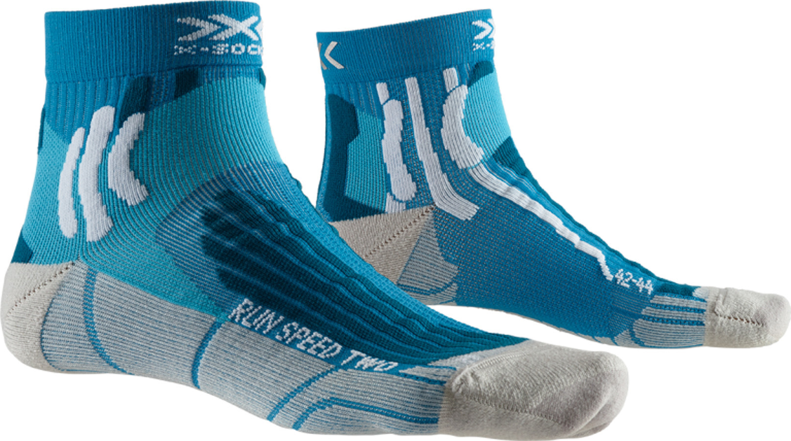 X-Socks Run Speed Two Strømper Herrer, teal blue/pearl grey (2019) | Kompressionstøj