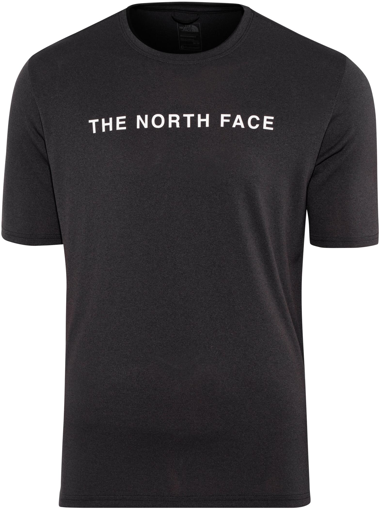 The North Face Train N Logo SS Tee Herrer, tnf black heather (2019) | Jerseys