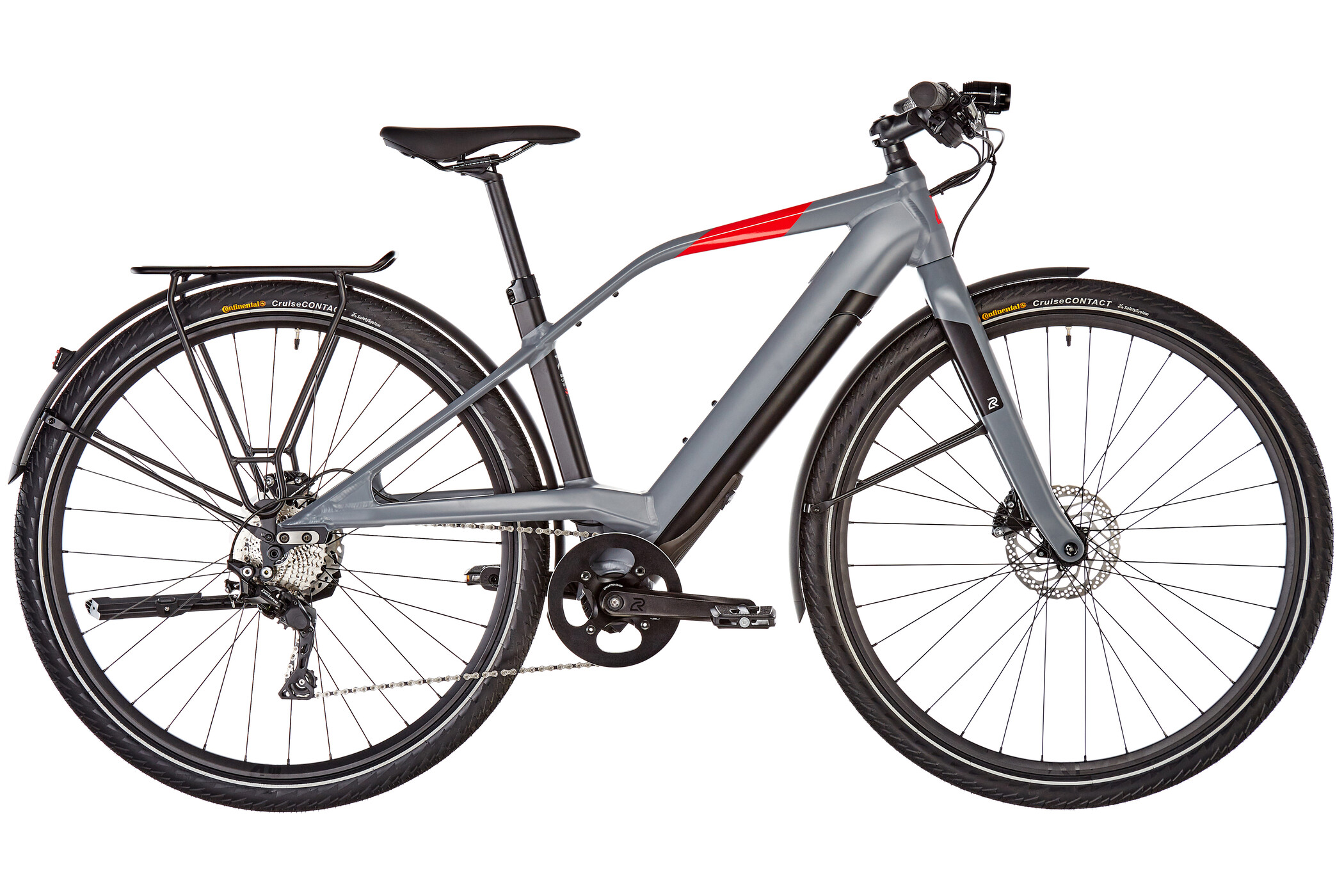 LOGO FS10 FAZUA E-citybike, dark grey/black/red (2019) | City