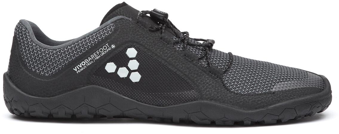 Vivobarefoot Primus Trail FG Mesh Sko Damer, black-charcaol (2019)   Shoes and overlays