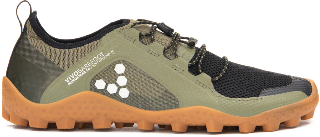 Vivobarefoot Primus Trail SG Mesh Sko Damer, olive (2019)   Shoes and overlays
