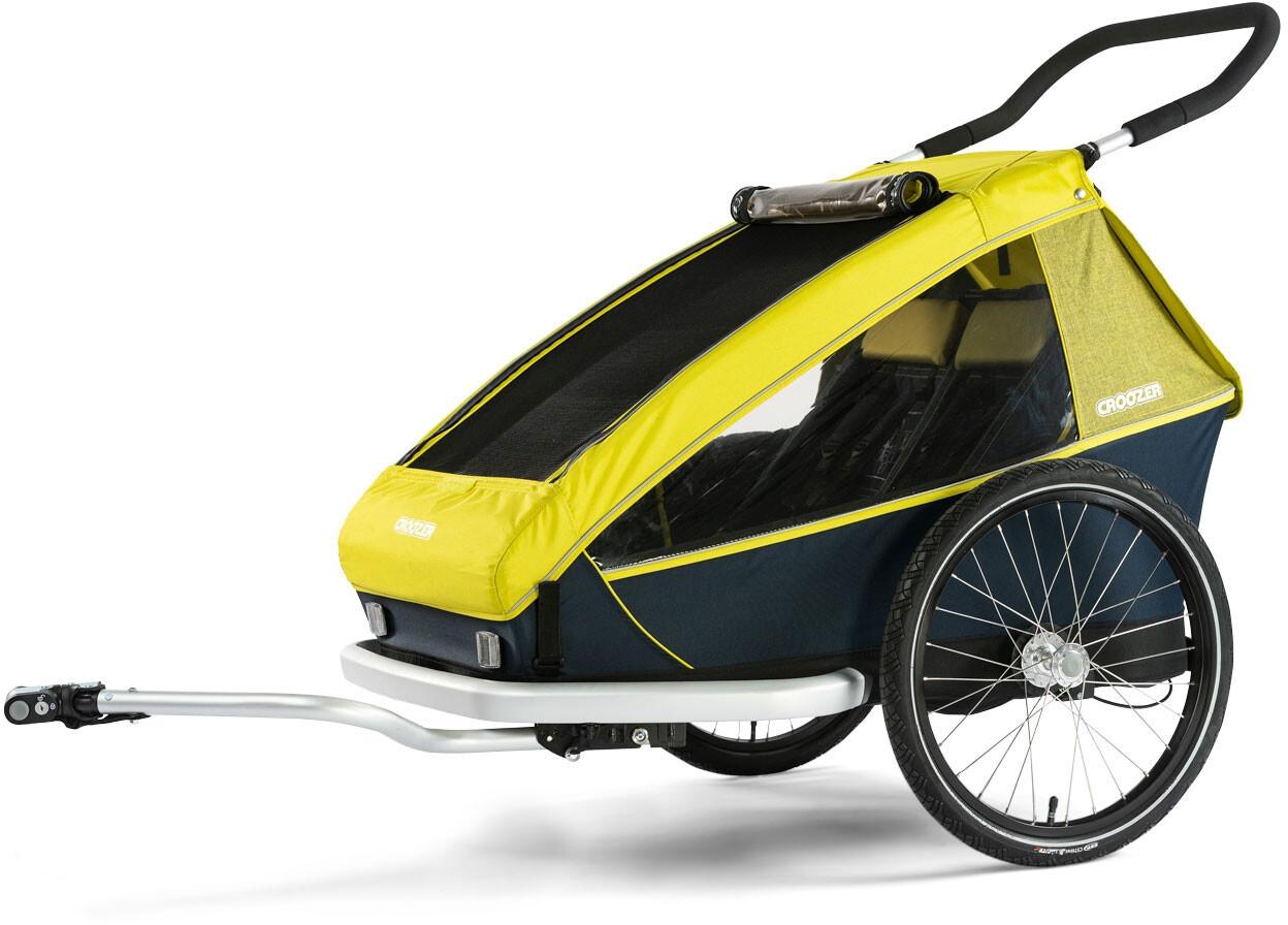 Croozer Kid For 2 Cykelanhænger, lemon green (2019) | bike_trailers_component