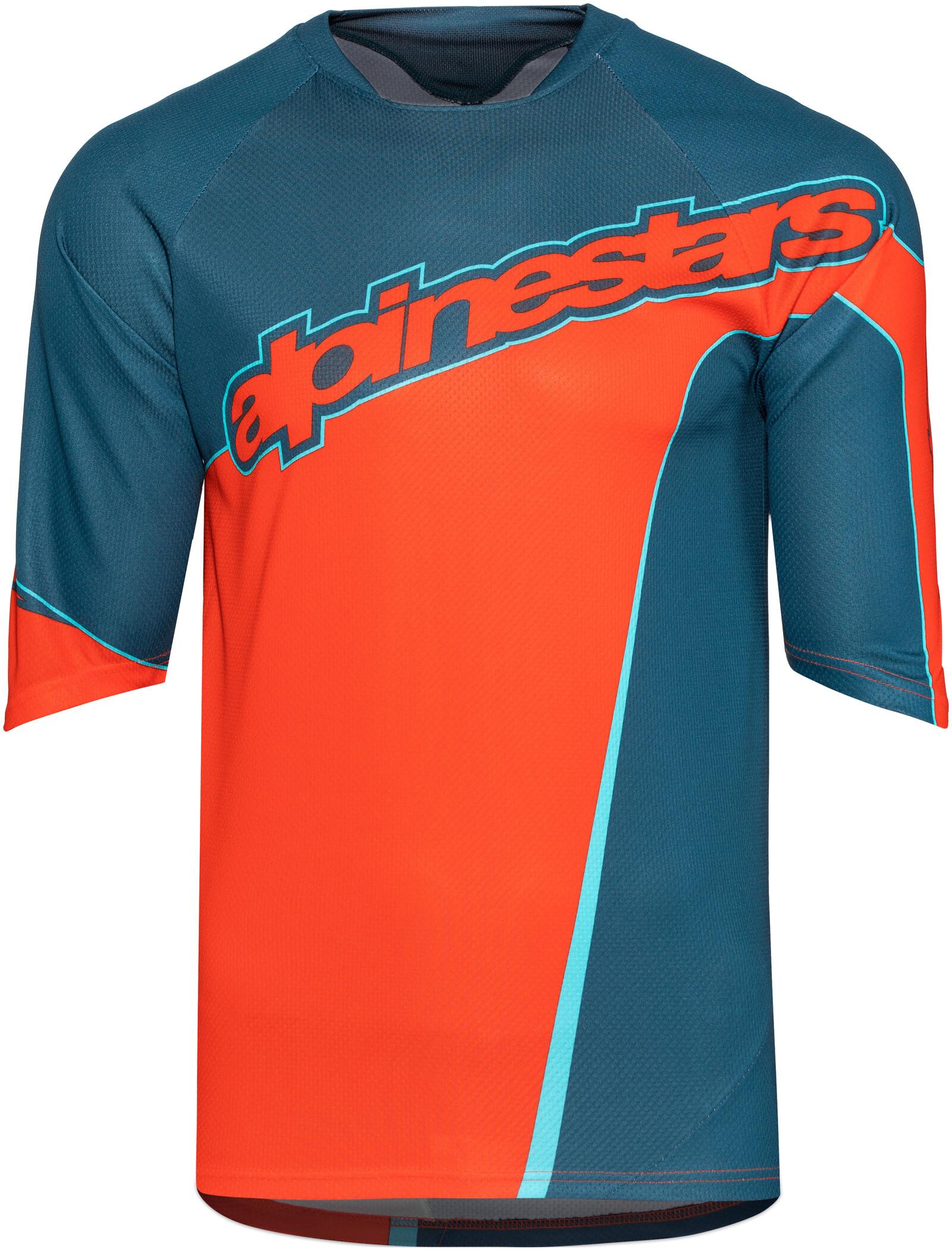 Alpinestars Crest Kortærmet cykeltrøje Herrer, poseidon blue/energy orange | Jerseys