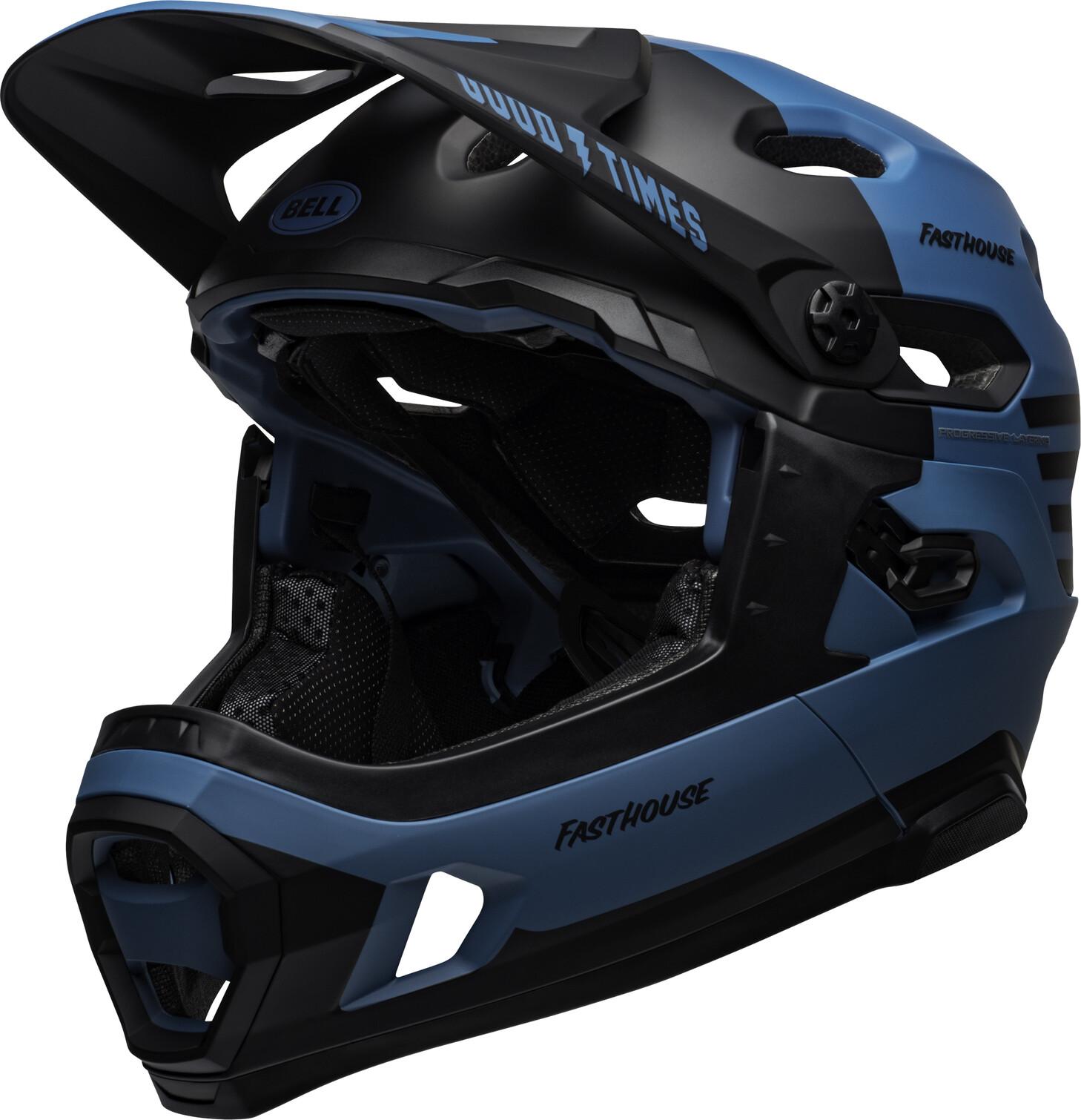 Bell Super DH MIPS Helmet fasthouse, matte blue/black (2019) | Hjelme