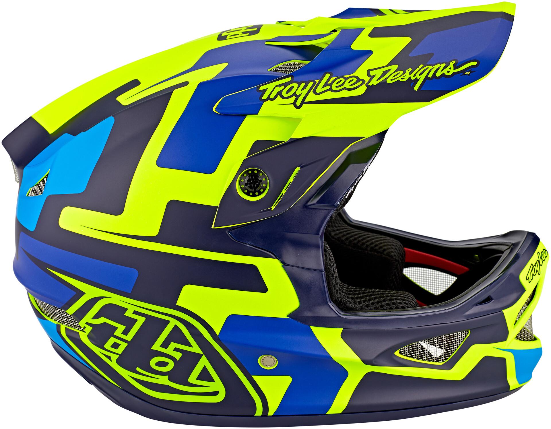 Troy Lee Designs D3 Helmet Fiberlite TLD BMX MTB Downhill DH Gear SpeedCode Blue