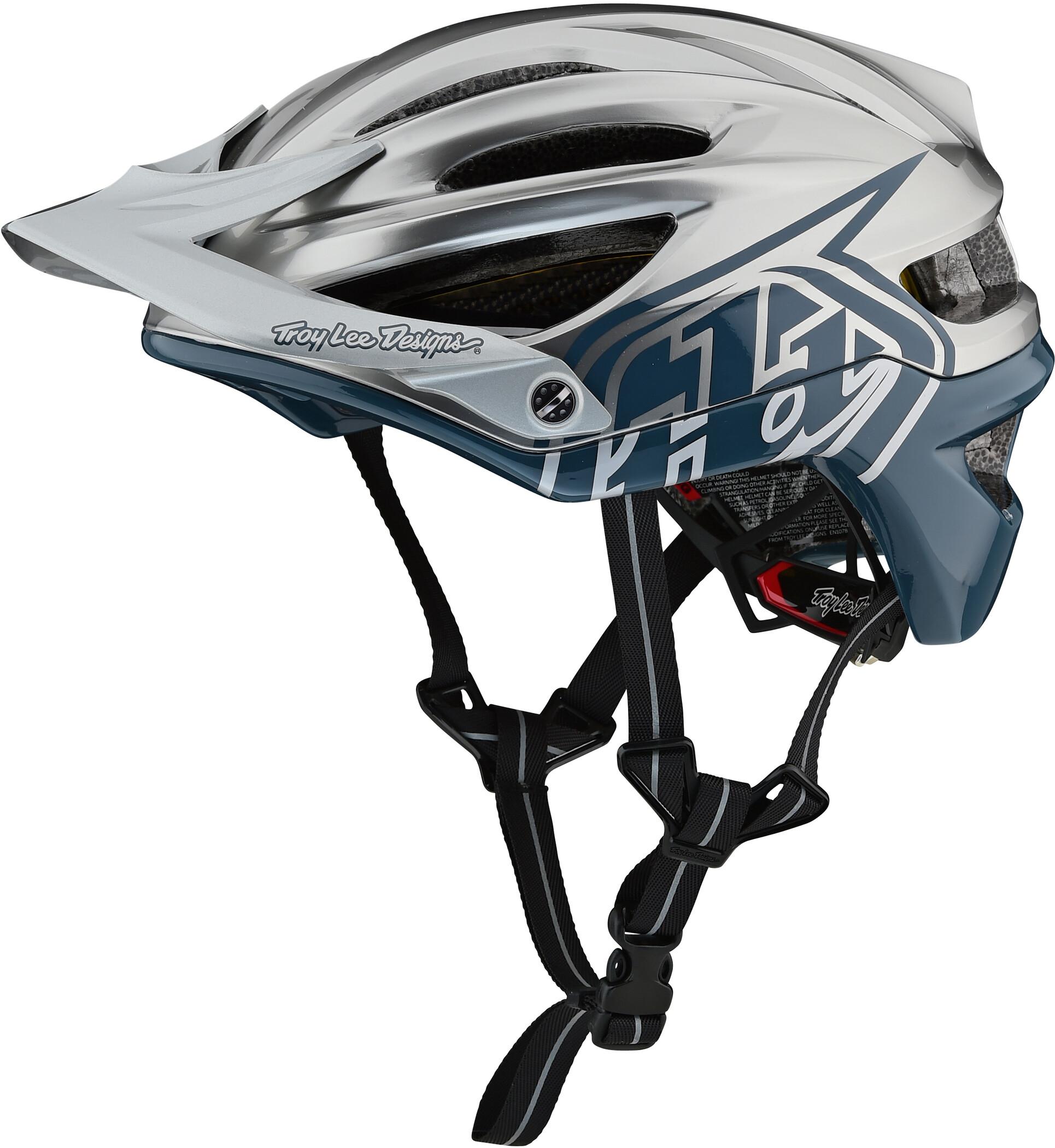 Troy Lee Designs A2 Decoy MIPS Cykelhjelm, air force blue/silver (2019) | Helmets
