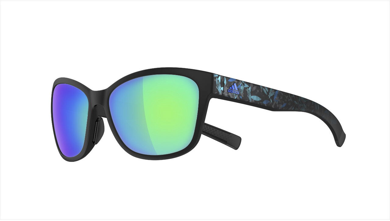 adidas Excalate Cykelbriller, black matt/floral blue (2019) | Glasses