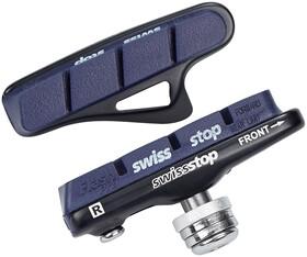 50mm XLC Cartridge Rennrad Bremsschuhe Campa    4er Set silber//blau für Carbon