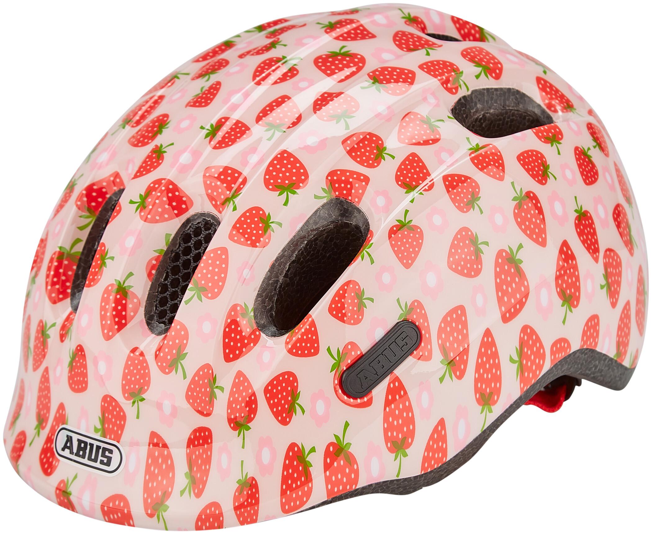 Abus Smiley 2.1 cykelhjelm - Rose Strawberry 50-55 cm. | Helmets