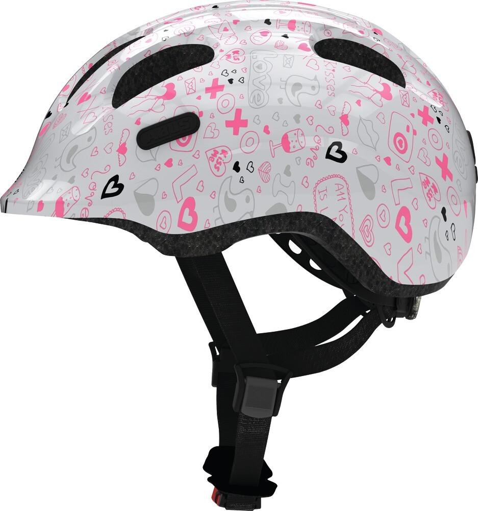 Abus Smiley 2.1 cykelhjelm - White Crush 50-55 cm. | Helmets