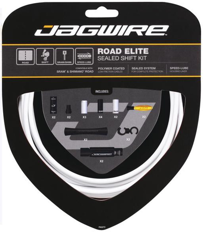 Jagwire Elite Sealed Gearkabelsæt, white | Gear cables
