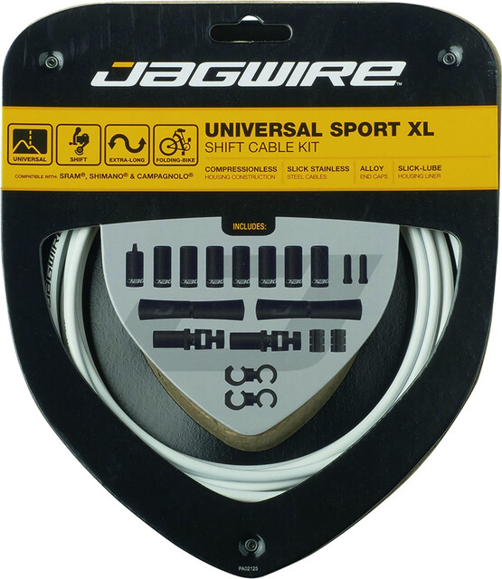 Jagwire Pro Shift MTB /& Road Cable Kit White Shimano//SRAM